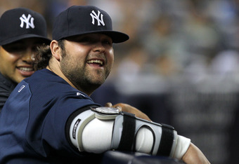 NEW YORK, NY - JUNE 29:  Joba Chamberlain of the New York Yankees looks on during their game against the Milwaukee Brewers on June 29, 2011 at Yankee Stadium in the Bronx borough of New York City.  (Photo by Al Bello/Getty Images)
