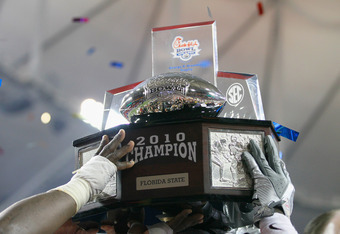 The last college football trophy awarded in 2011 will be one similar to this this. The Virginia Cavaliers will look to make it two straight for the ACC in the Chick-fil-A Bowl.