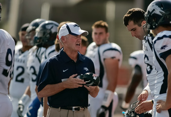Chris Ault's Pistol offense is humming again this year, as the Wolfpack average over 500 yards of offense per game.