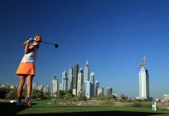 Lexi Thompson at the Dubai Ladies Masters