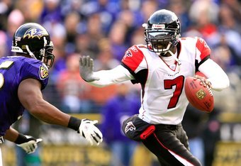 Michael Vick always struggled with consistency during his time in a Falcons uniform.