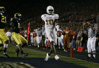 Vince Young led the Longhorns to a victory over Michigan in the 91st edition of the Rose Bowl