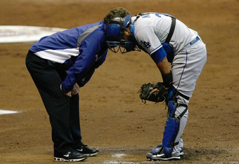 Catcher Dioner Navarro has been injured multiple times during his eight-year MLB career, most recently in early 2011.