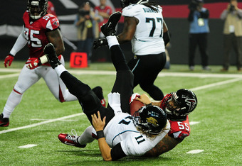 The Falcons are one win away from a second consecutive season playing in the playoffs.