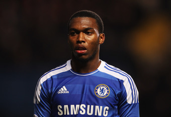 LONDON, ENGLAND - DECEMBER 06:  Daniel Sturridge of Chelsea looks on during the UEFA Champions League Group E match between Chelsea FC and Valencia CF at Stamford Bridge on December 6, 2011 in London, England.  (Photo by Scott Heavey/Getty Images)