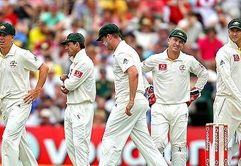 Australian team against England in Ashes series