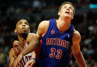 Detroit's young forward from Sweden, Jonas Jerebko