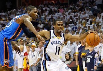 2012's POE includes the issue of clearing space. Mike Conley and other players are liable to be called for offensive fouls if they use their off-arm to displace their defenders, such as Kevin Durant.