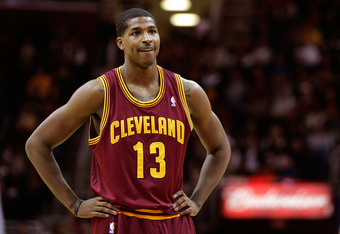 CLEVELAND, OH - DECEMBER 26:  Tristan Thompson #13 of the Cleveland Cavaliers looks on after a play against the Toronto Raptors during the season opener at Quicken Loans Arena on December 26, 2011 in Cleveland, Ohio. NOTE TO USER: User expressly acknowled
