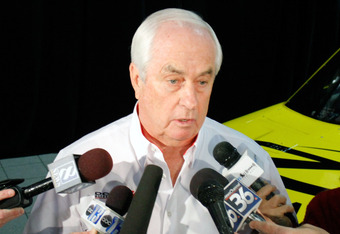 MOORESVILLE, NC - JANUARY 24:  Team owner Roger Penske speaks to the media,  during the NASCAR Sprint Media Tour hosted by Charlotte Motor Speedway, held at Penske Racing on January 24, 2011 in Mooresville, North Carolina.  (Photo by Jason Smith/Getty Ima