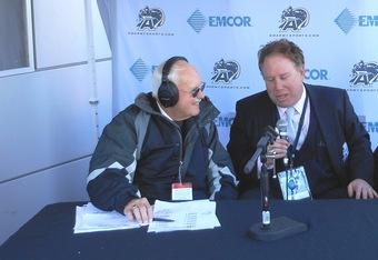Army radio's Bob Outer with Mark Holtzman (K.Kraetzer)