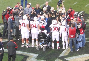 Eric LeGrand with teammates at Army Game (K.Kraetzer)