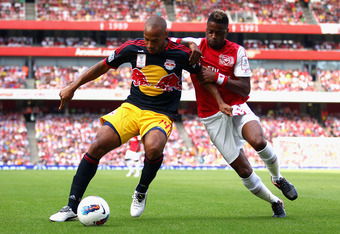 Henry played against Arsenal last summer in the Emirates Cup