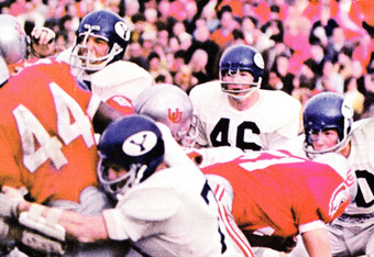 Throwback jerseys?  Utah vs. BYU circa 1966