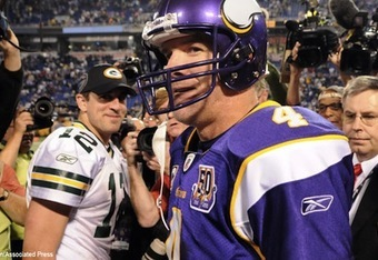 Rodgers is no Favre, he's the better quarterback, and the bigger man.