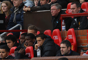 MANCHESTER, ENGLAND - DECEMBER 31:  Manchester United manager Sir Alex Ferguson  looks on dejected from the bench during the Barclays Premier League match between Manchester United and Blackburn Rovers at Old Trafford on December 31, 2011 in Manchester, E