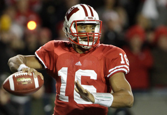 MADISON, WI - OCTOBER 01: Russell Wilson #16 of the Wisconsin Badgers throws the ball while playing the Nebraska Cornhuskers October 1, 2011 at Camp Randall stadium in Madison, Wisconsin. Wisconsin defeated Nebraska 48-17. (Photo by John Gress/Getty Image