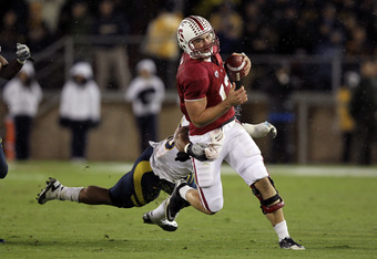 STANFORD, CA - NOVEMBER 19:  Andrew Luck #12 of the Stanford Cardinal in action against the California Golden Bears at Stanford Stadium on November 19, 2011 in Stanford, California.  (Photo by Ezra Shaw/Getty Images)