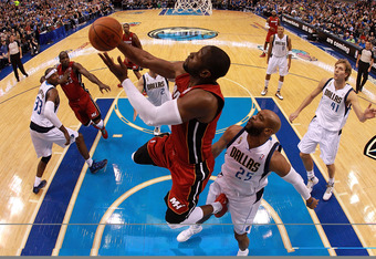 DALLAS, TX - DECEMBER 25:  Dwyane Wade #3 of the Miami Heat at American Airlines Center on December 25, 2011 in Dallas, Texas.  (Photo by Ronald Martinez/Getty Images)