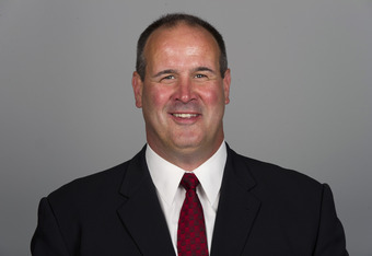 CHICAGO, IL - CIRCA 2011: In this handout image provided by the NFL,  Mike Tice of the Chicago Bears poses for his NFL headshot circa 2011 in Chicago, Illinois.  (Photo by NFL via Getty Images)