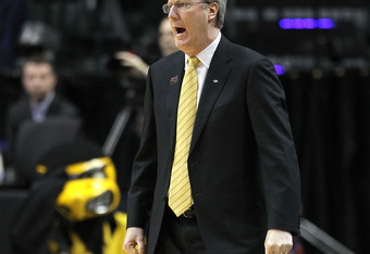 INDIANAPOLIS, IN - MARCH 10:  Head coach Fran McCaffery of the Iowa Hawkeyes reacts against the Michigan State Spartans during the first round of the 2011 Big Ten Men's Basketball Tournament at Conseco Fieldhouse on March 10, 2011 in Indianapolis, Indiana