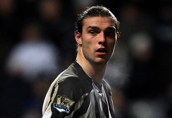 NEWCASTLE, UNITED KINGDOM - DECEMBER 11:  Andy Carroll of Newcastle United looks on during the Barclays Premier League match between Newcastle United and Liverpool at St James' Park on December 11, 2010 in Newcastle, England. (Photo by Mark Thompson/Getty