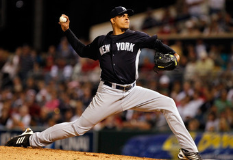FORT MYERS, FL - MARCH 14:  Pitcher Dellin Betances #72 of the New York Yankees pitches against the Boston Red Sox during a Grapefruit League Spring Training Game at City of Palms Park on March 14, 2011 in Fort Myers, Florida.  (Photo by J. Meric/Getty Im