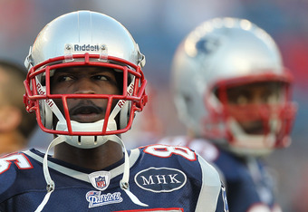 FOXBORO, MA - AUGUST 11:  Chad Ochocinco #85 of the New England Patriots prepares before a game against the Jacksonville Jaguars at Gillette Stadium on August 11, 2011 in Foxboro, Massachusetts. (Photo by Jim Rogash/Getty Images)