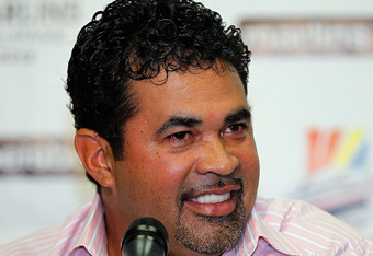 MIAMI GARDENS, FL - SEPTEMBER 28:  Ozzie Guillen speaks as the Florida Marlins introduce him as their new manager during a press conference at Sun Life Stadium on September 28, 2011 in Miami Gardens, Florida.  (Photo by Mike Ehrmann/Getty Images)