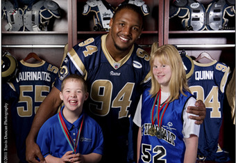 Robert Quinn, 2011 1st Round Pick, with Special Olympians