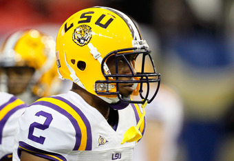 ATLANTA, GA - DECEMBER 03:  Rueben Randle #2 of the LSU Tigers against the Georgia Bulldogs during the 2011 SEC Championship Game at Georgia Dome on December 3, 2011 in Atlanta, Georgia.  (Photo by Kevin C. Cox/Getty Images)