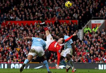 Wayne Rooney's overhead kick was a winning goal for United last season against City