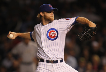 CHICAGO, IL - SEPTEMBER 20:  Andrew Cashner #48 of the Chicago Cubs pitches against the Milwaukee Brewers at Wrigley Field on September 20, 2011 in Chicago, Illinois. The Brewers defeated the Cubs 5-1.  (Photo by Jonathan Daniel/Getty Images)