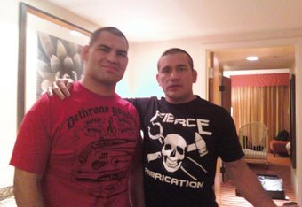 WFFMMA CEO Thom Ortiz and his former ASU wrestler Cain Velasquez