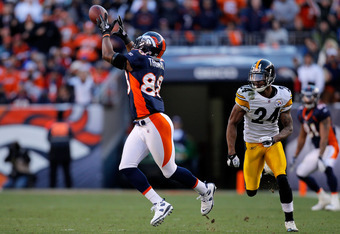 Demaryius Thomas demonstrates the new overtime rules by scoring a touchdown on the first play of extra time.