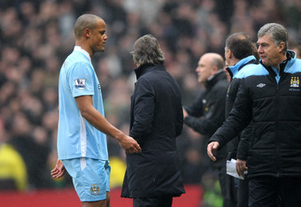 Vincent Kompany walked the wrong side of the law in the United match.