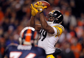 Jerricho Cotchery hauls in a game tying catch.