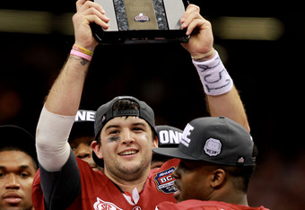A.J. McCarron won the Offensive MVP Award during the title game.