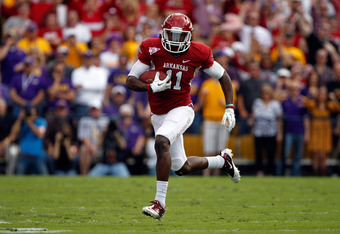 Hamilton will be the lead Razorback receiver in 2012.