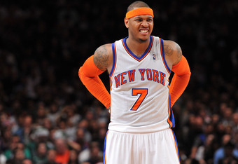 When was the last time Melo had an uncontested look from midrange?