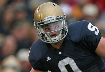 TE Kyle Rudolph had a prolific career at Notre Dame before leaving school early to enter the 2011 NFL Draft.