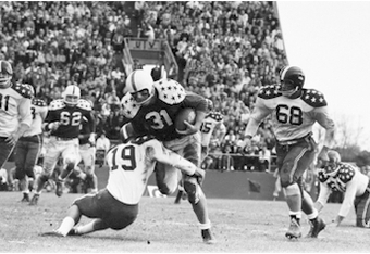 Illinois Fullback/Linebacker Ray Nitschke (#31) 1958 Senior Bowl