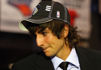 NEW YORK - JUNE 25:  Fifth overall draft pick by the Minnesota Timberwolves,  Ricky Rubio makes his way to the stage during the 2009 NBA Draft at the Wamu Theatre at Madison Square Garden June 25, 2009 in New York City. NOTE TO USER: User expressly acknow