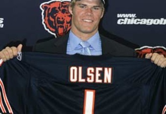 When the Bears drafted University of Miami product Greg Olsen in 2007, he was the first draft pick chosen in the top two rounds to sign a contract.