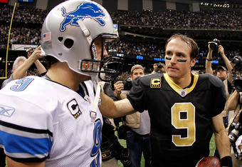 Stafford and Brees -- two fantasy football demigods!