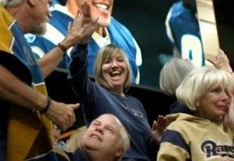 Excited St. Louis Rams Fans