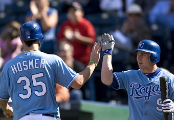 Johnny Giavotella most likely will hit infront of Eric Hosmer in 2012.