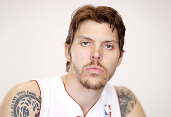 MIAMI, FL - DECEMBER 12: Mike Miller #13 of the Miami Heat poses during media day at American Airlines Arena on December 12, 2011 in Miami, Florida.  (Photo by Mike Ehrmann/Getty Images)