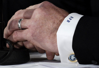 There's a picture of Brian Burke's hands on here. Had to add it for novelty, though it seems fitting and metaphorical.