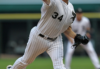 CHICAGO, IL - JULY 29:  Starting pitcher Gavin Floyd #34 of the Chicago White Sox delivers the ball against the Boston Red Sox at U.S. Cellular Field on July 29, 2011 in Chicago, Illinois.  (Photo by Jonathan Daniel/Getty Images)